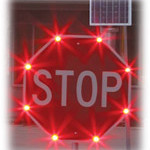 Flashing LED Stop Sign
