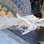 Frayed tether straps